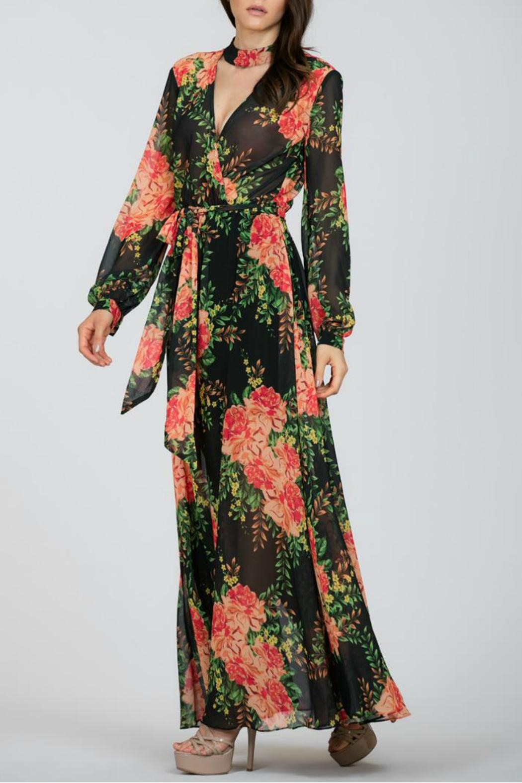 Ark & Co. Floral Maxi Dress - Side Cropped Image