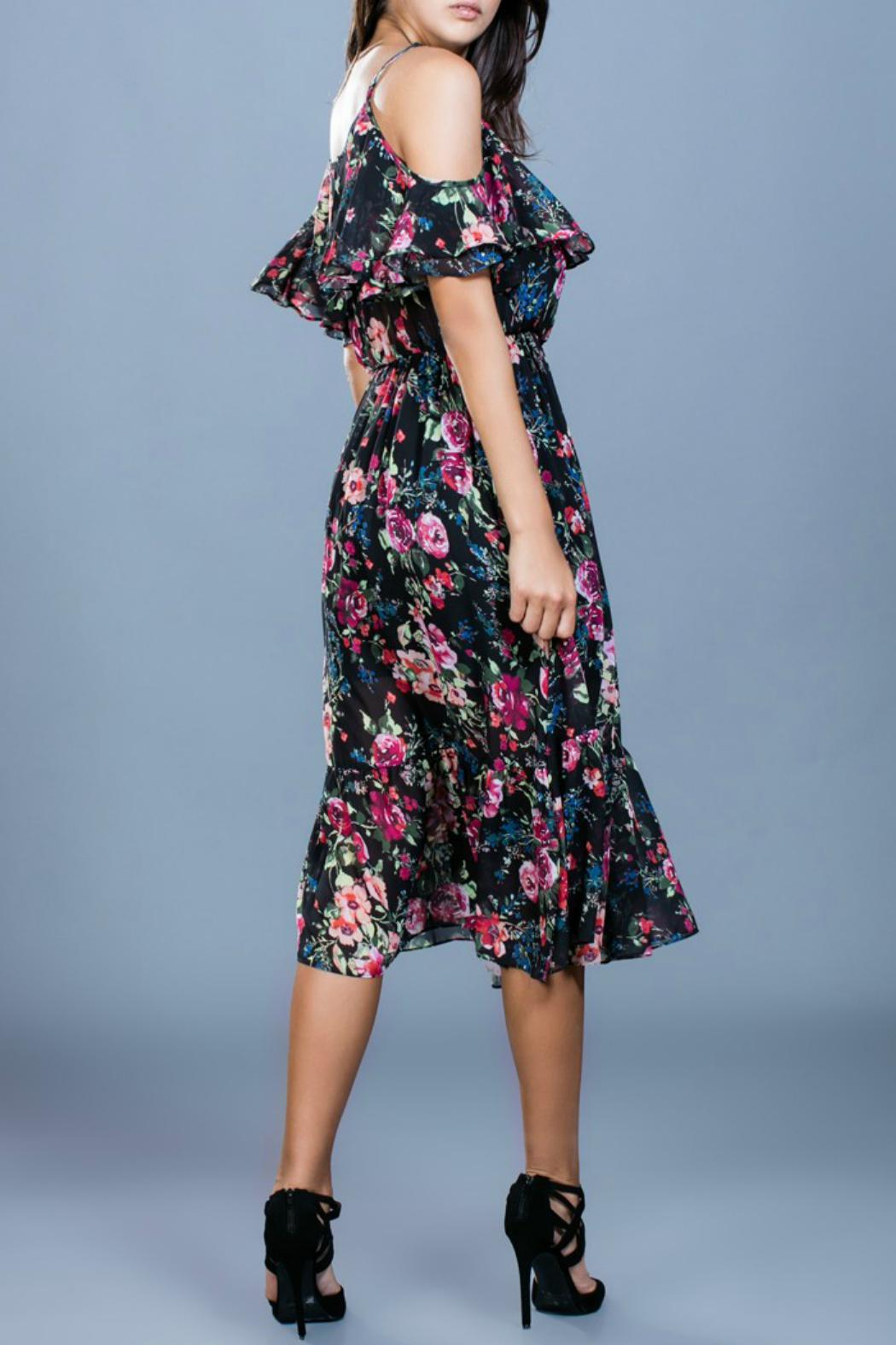 Ark & Co. Floral Midi Dress - Side Cropped Image