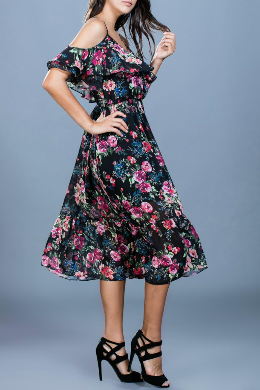 Ark & Co. Floral Midi Dress - Front Full Image