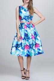 Ark & Co. Floral Midi Skirt - Product Mini Image