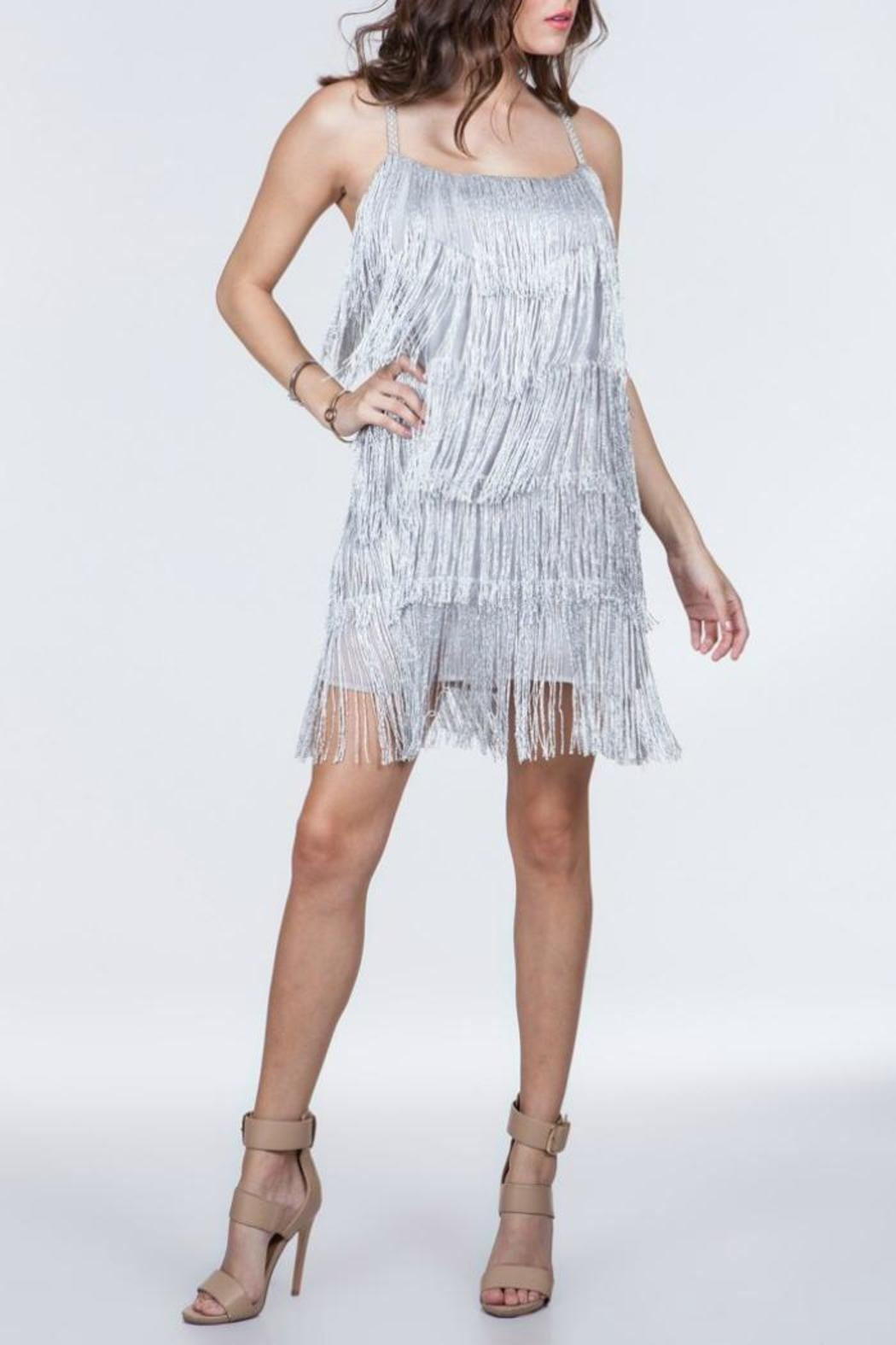ark amp co silver fringe dress from atlanta by collage