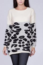Ark & Co. Leopard Pattern Sweater - Product Mini Image