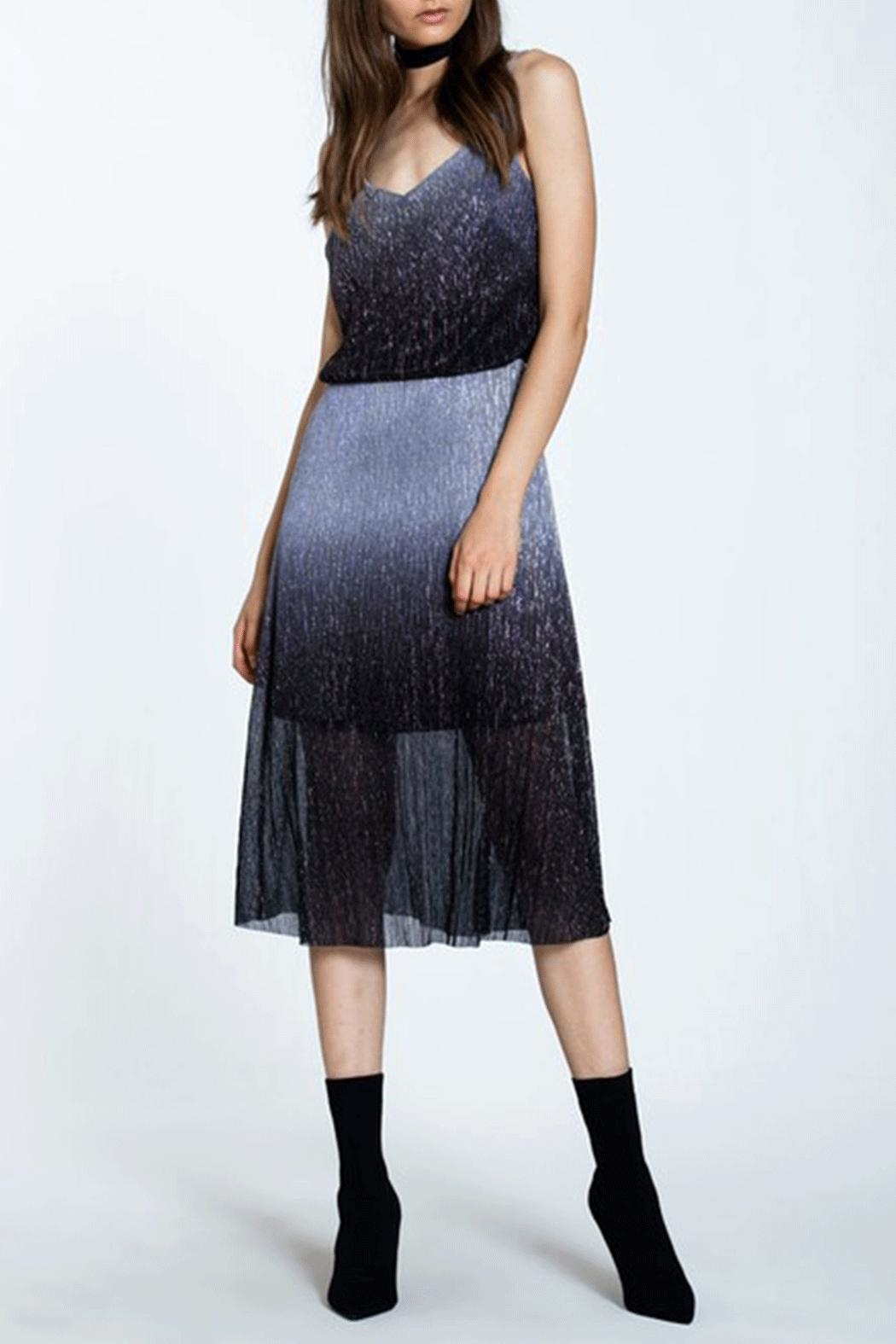 Ark & Co. Metal Pleated Dress - Front Full Image