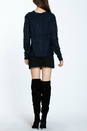 Ark & Co. Navy Knit Sweater - Back cropped