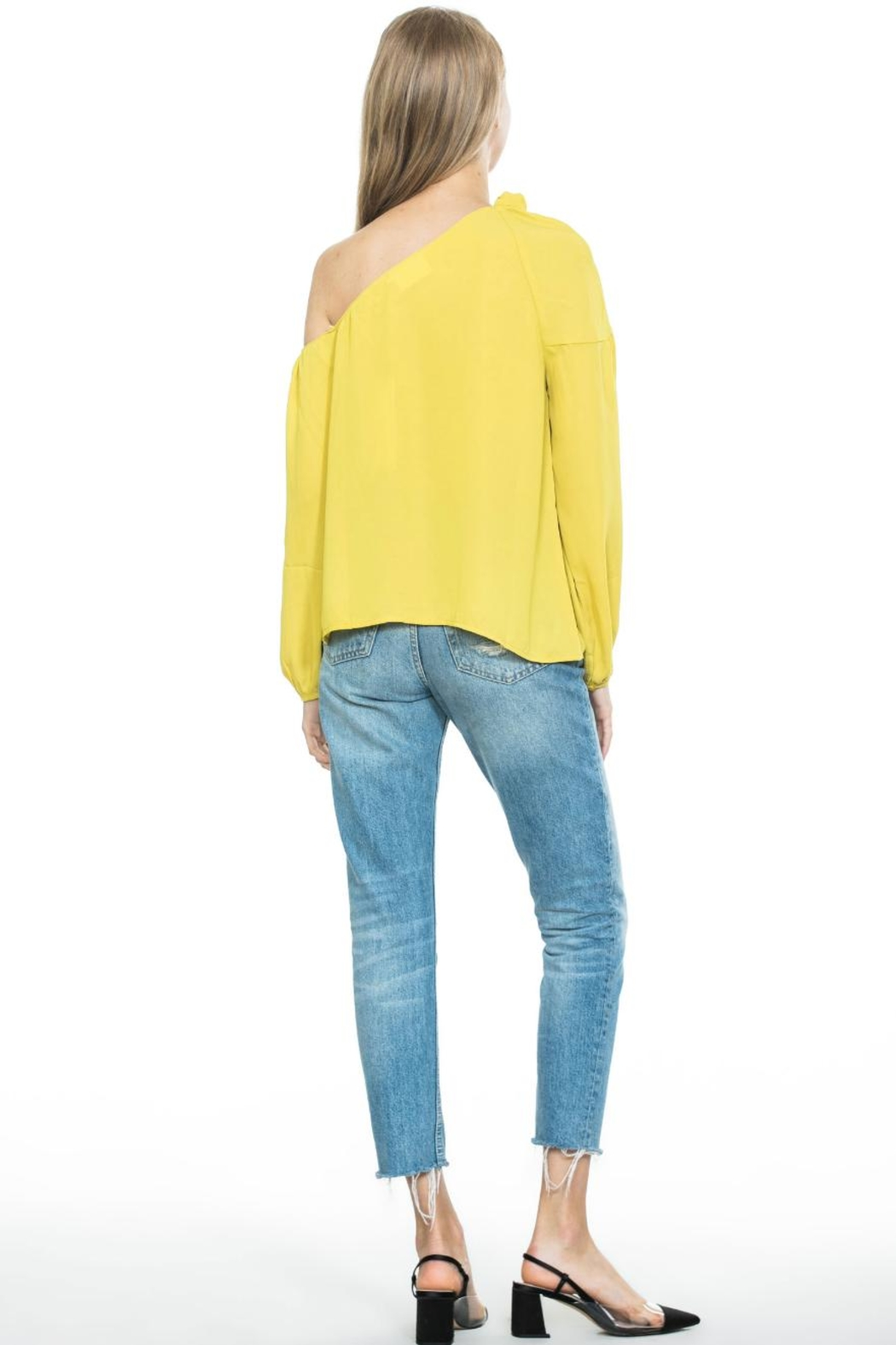 Ark & Co. Mustard Tie Top - Side Cropped Image