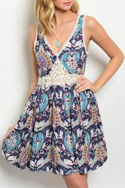 Ark & Co. Paisley Navy Dress - Front cropped