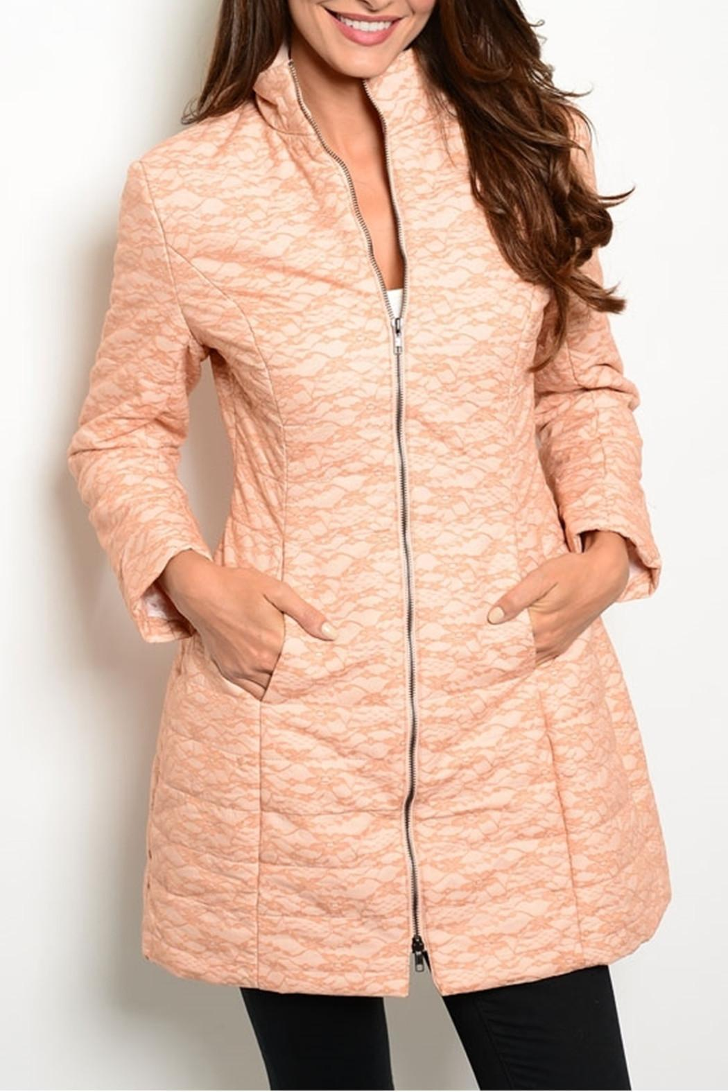 Ark & Co. Peach Wind Coat - Front Cropped Image