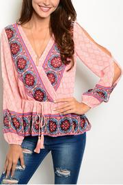 Ark & Co. Peach Moroccan Blouse - Product Mini Image