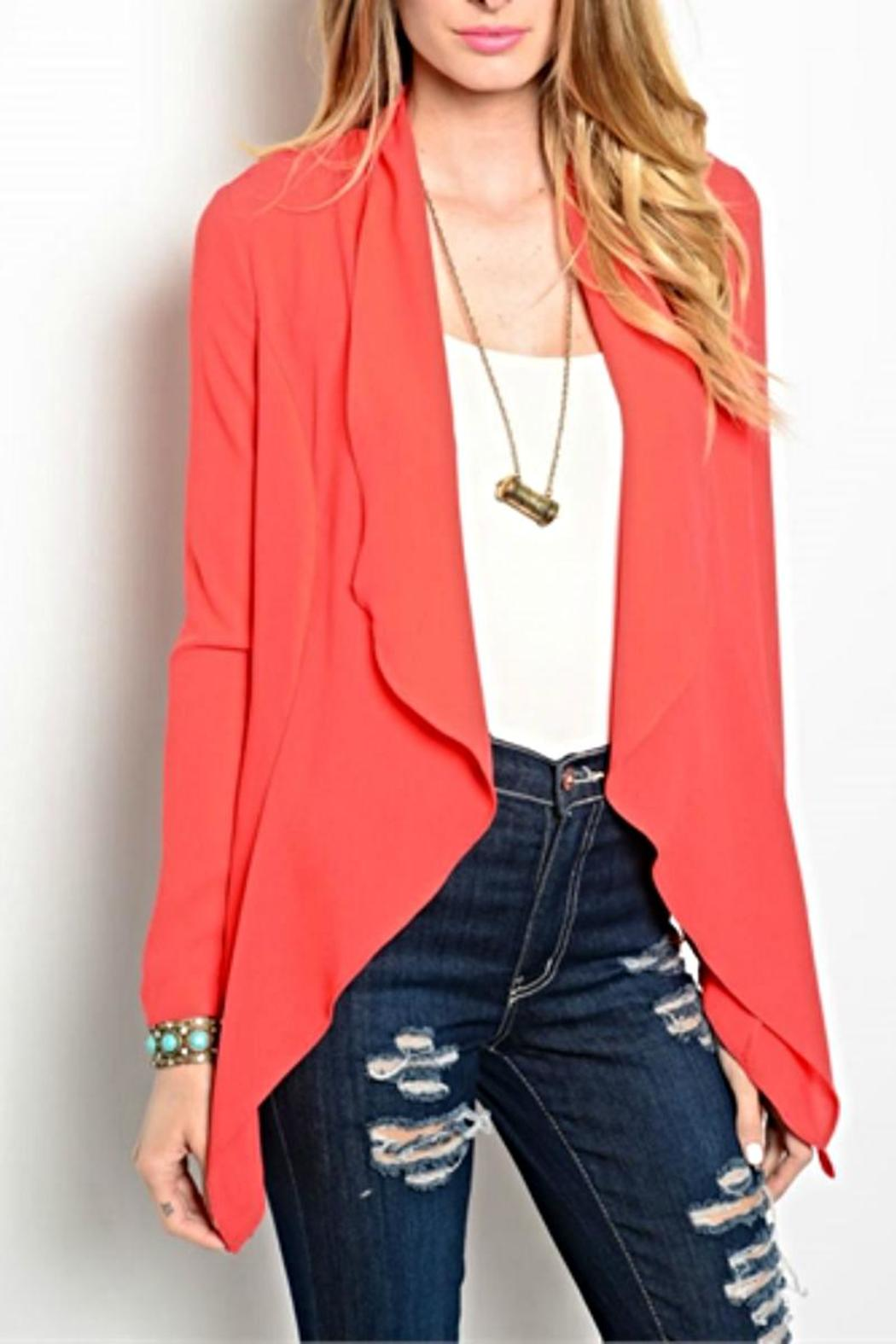 Ark & Co. Red Waterfall Cardigan from Michigan by HUMANITY ...