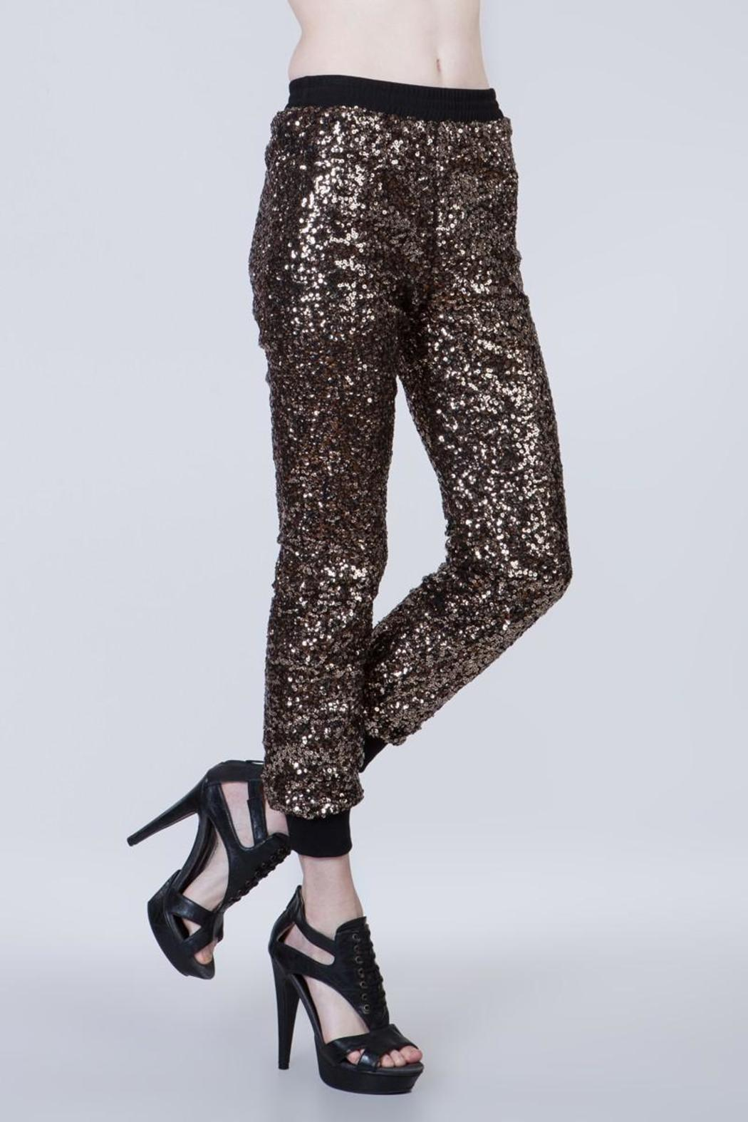 Ark & Co. Sequin Joggers - Side Cropped Image