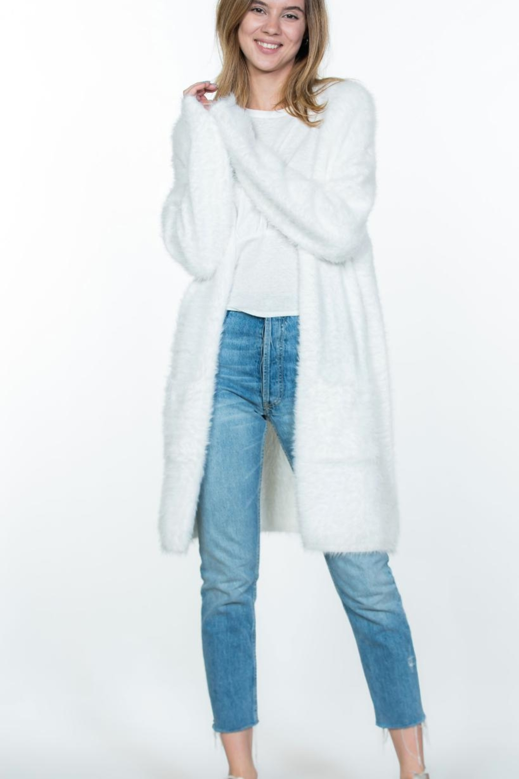 Ark & Co. Soft Long-Sleeve Cardi-Duster - Front Cropped Image