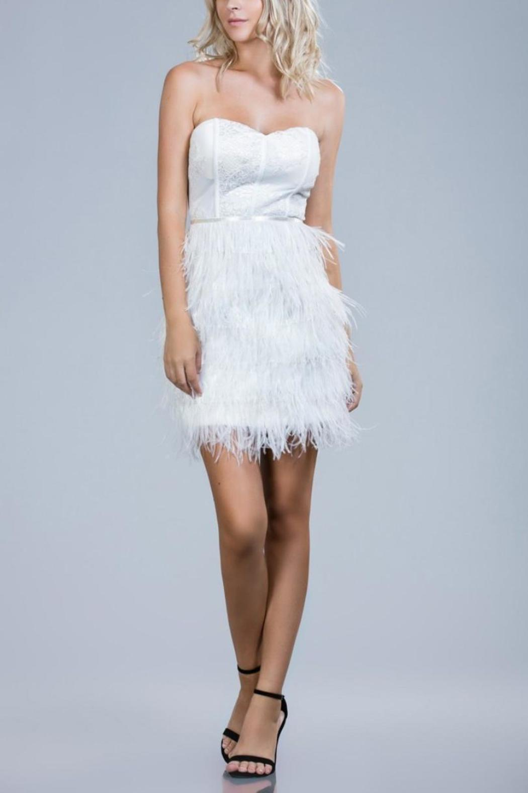Ark & Co. Strapless Feather Dress from Miami by Secret Vanity ...