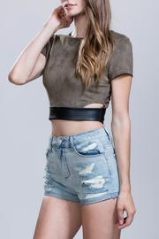 Ark & Co. Suede Leather Crop - Product Mini Image