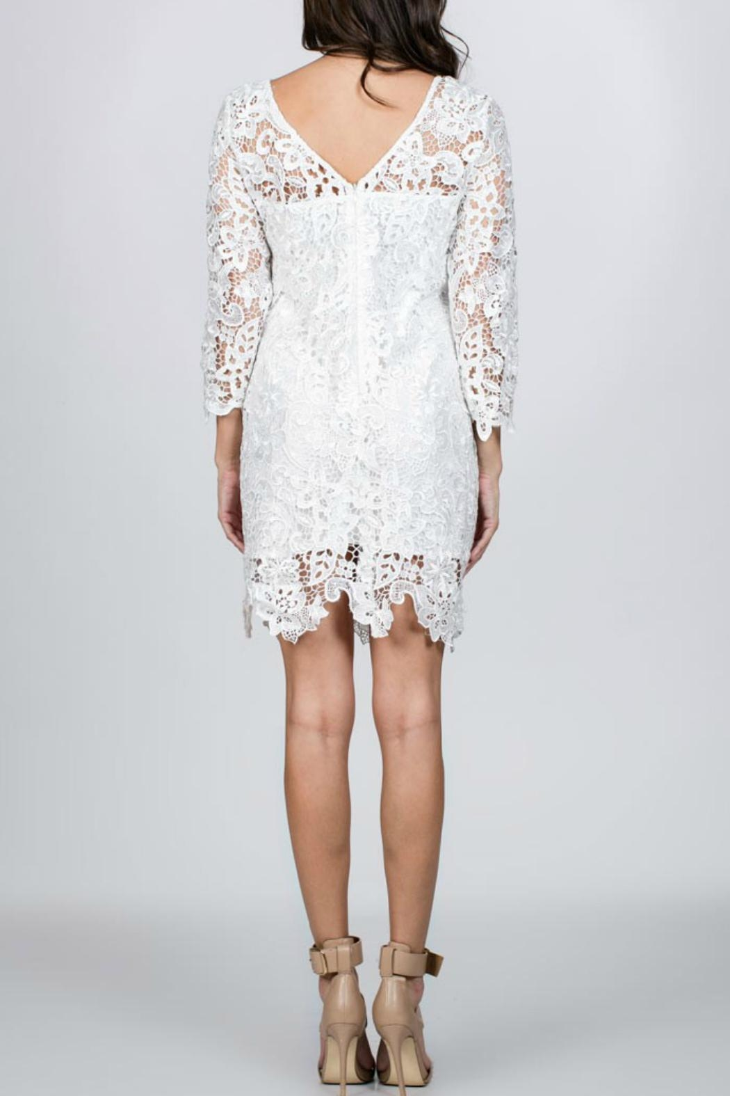 Ark & Co. White Lace Dress - Front Full Image