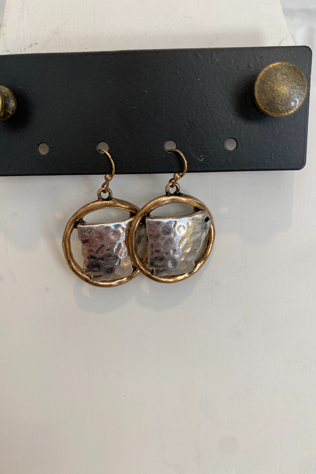 Kindred Mercantile  Arkansas State Earrings - Front Cropped Image