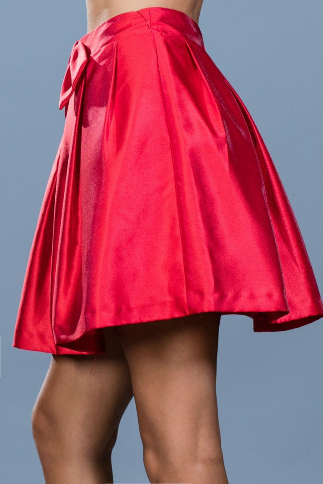 Ark & Co. Red Cocktail Skirt - Side Cropped Image