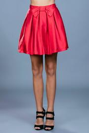 Ark & Co. Red Cocktail Skirt - Front full body