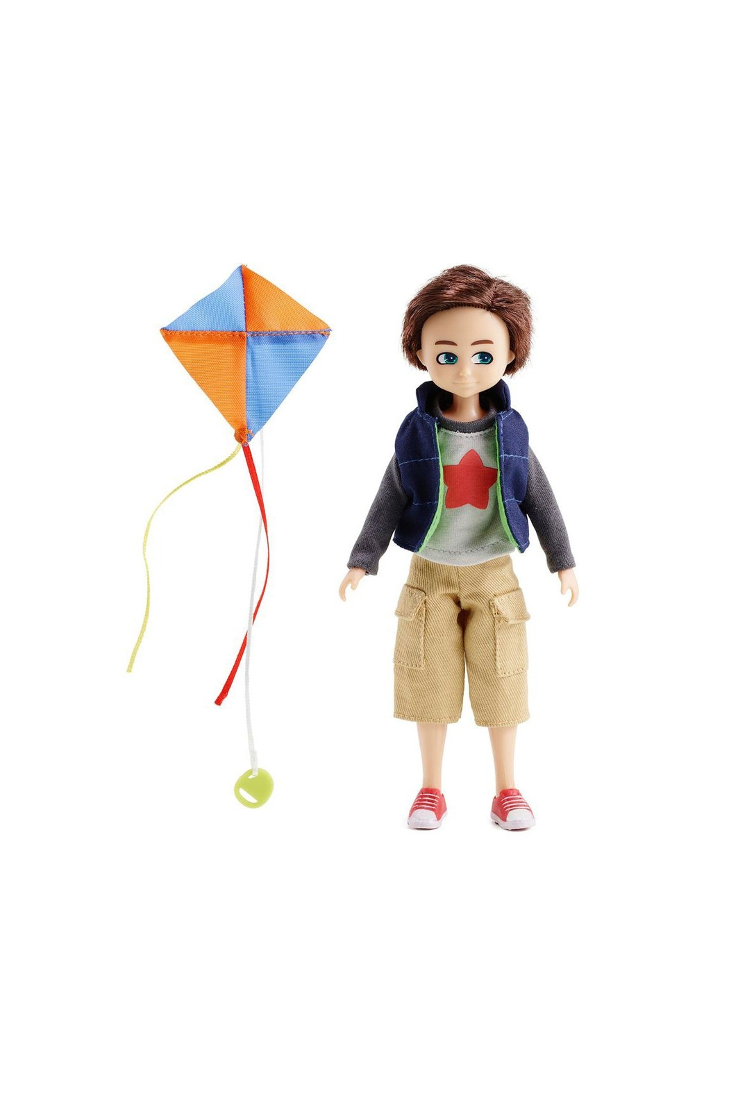 Arklu Finn Kite Flyer Doll - Front Full Image