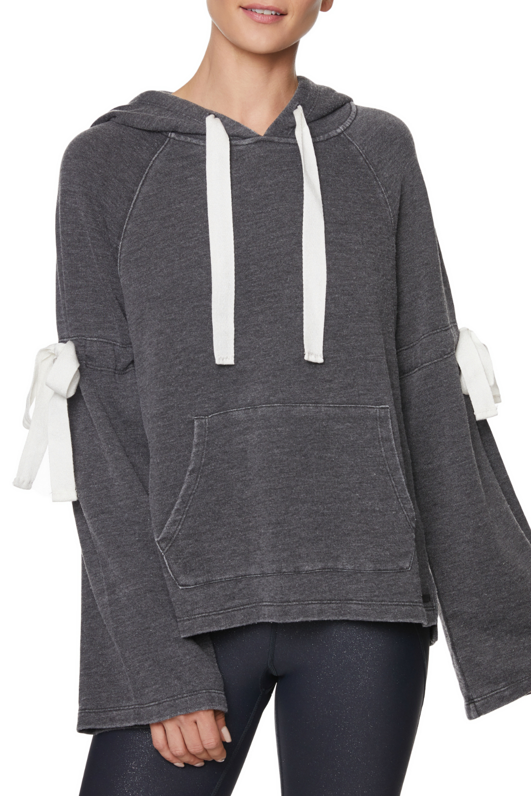 Betsey Johnson Arm Tie Hoodie Pullover - Main Image