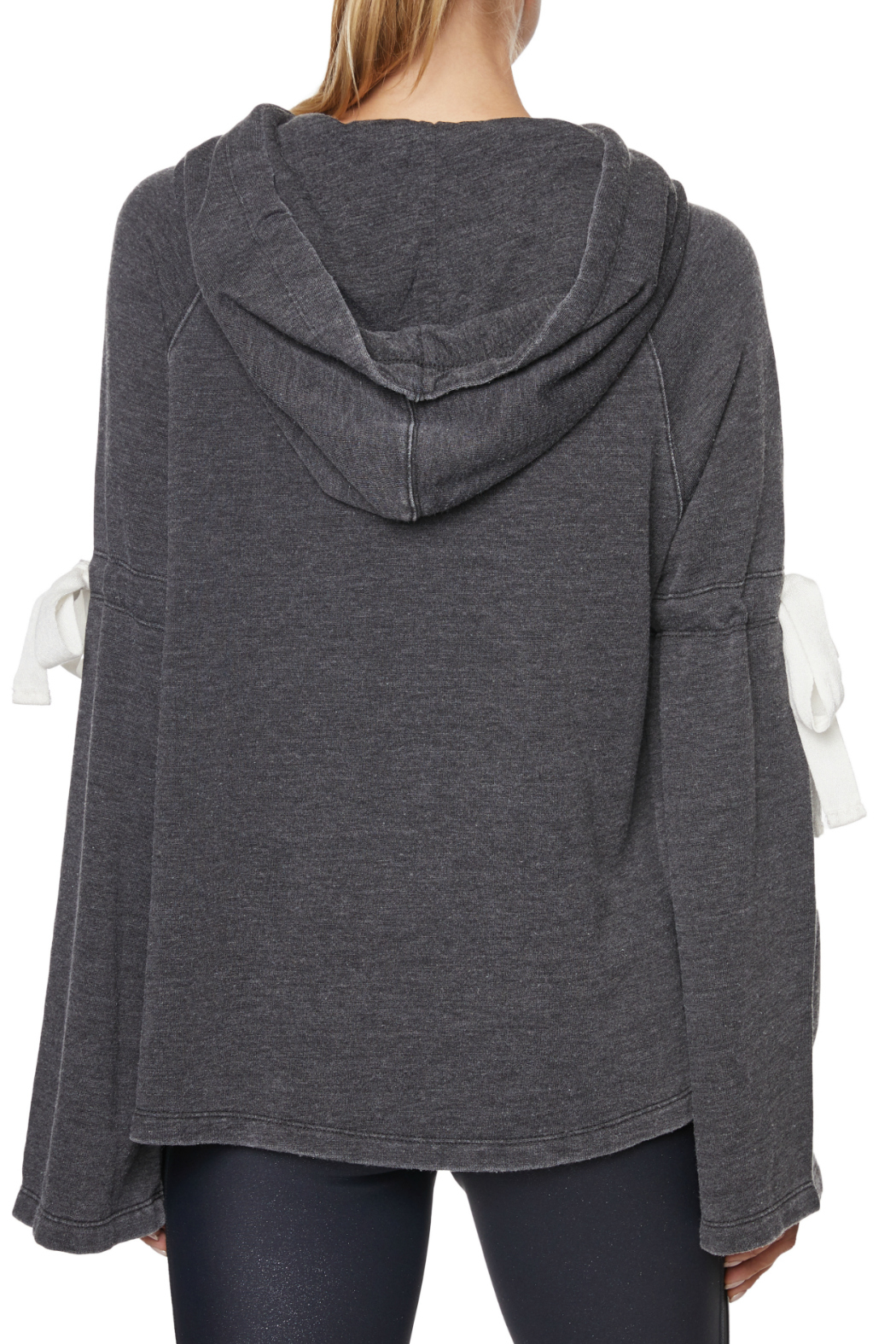 Betsey Johnson Arm Tie Hoodie Pullover - Side Cropped Image