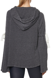 Betsey Johnson Arm Tie Hoodie Pullover - Side cropped