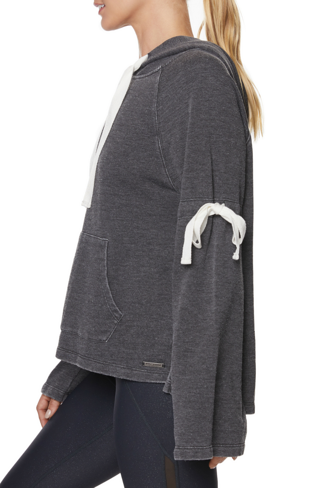 Betsey Johnson Arm Tie Hoodie Pullover - Front Full Image