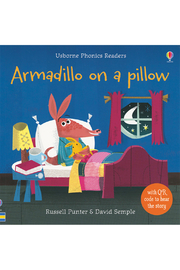 Usborne Armadillo On A Pillow - Front cropped