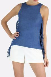 Armario De La Bella Denim Fringe Top - Product Mini Image