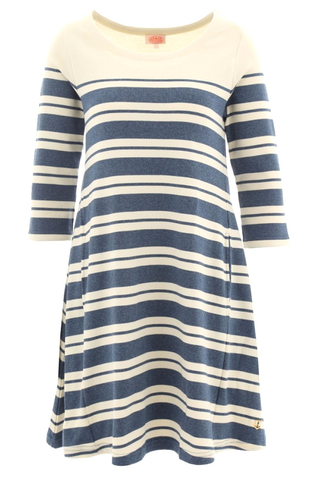 Armor Lux Heritage Striped Dress - Front Cropped Image