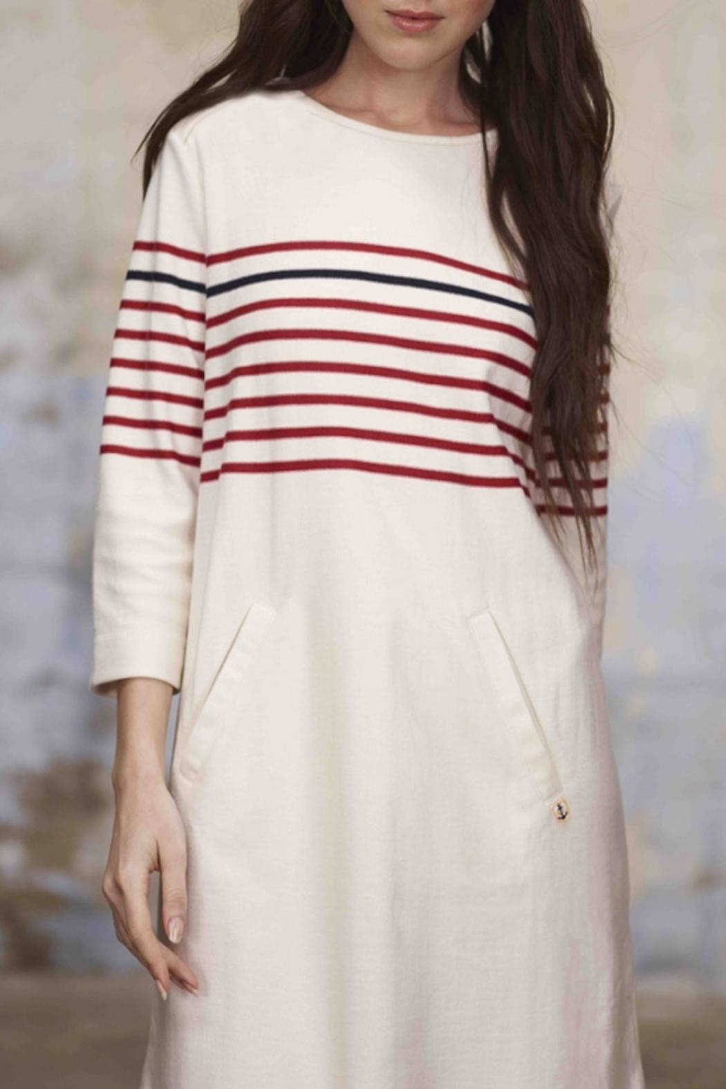 Armor Lux Nautical Striped Dress - Side Cropped Image