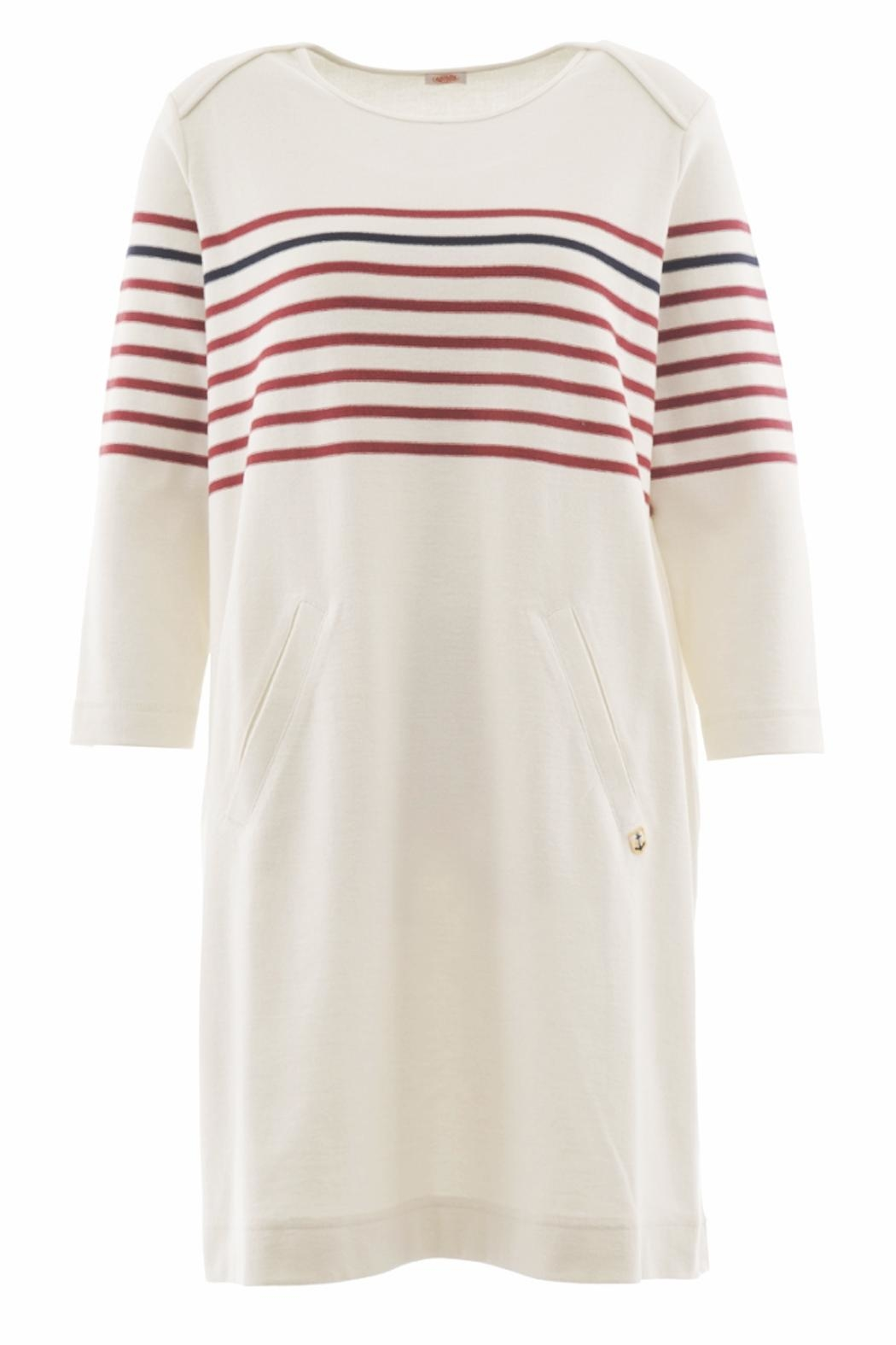 Armor Lux Nautical Striped Dress - Front Cropped Image