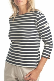 Armor Lux Navy & White Breton Shirt - Front full body