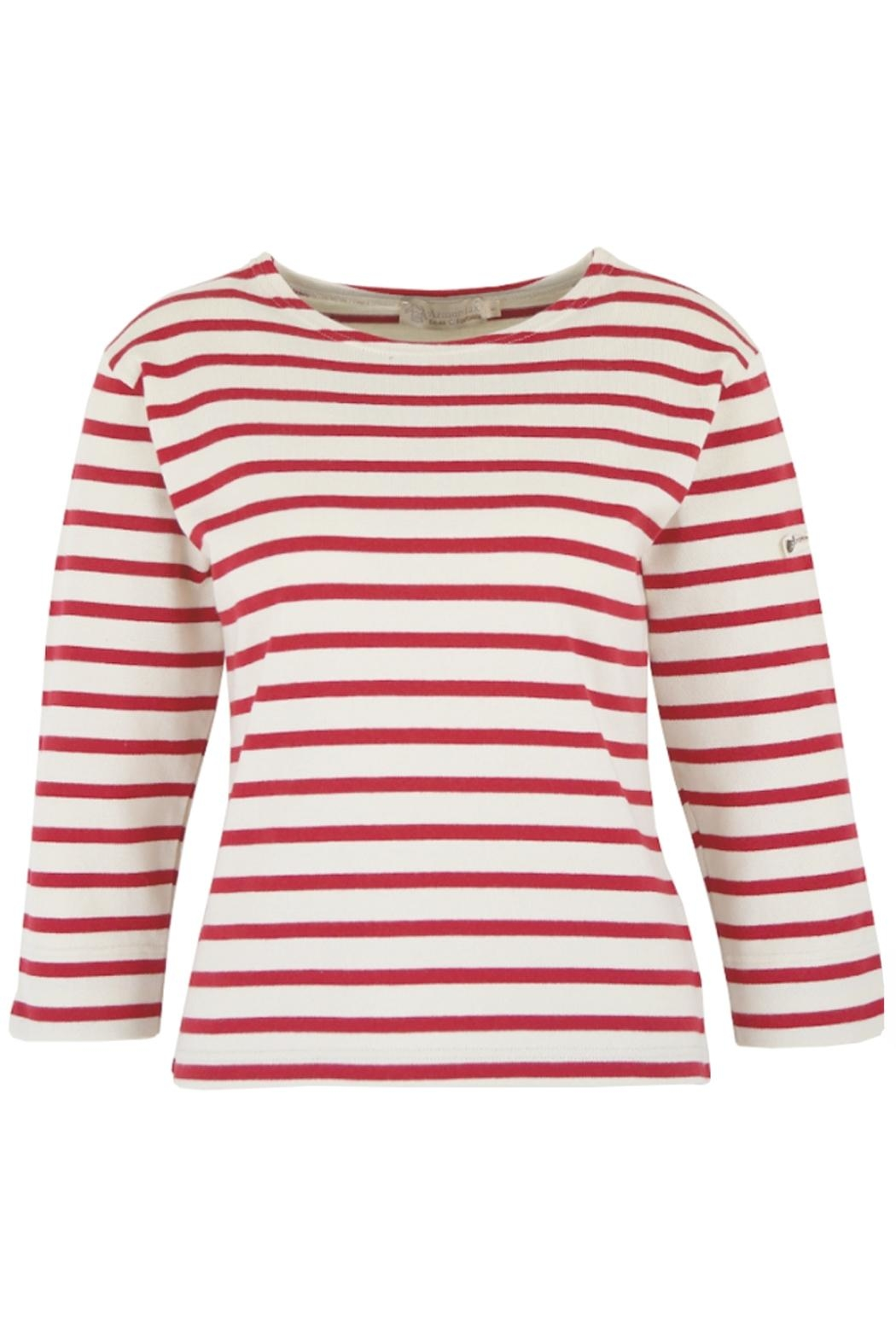 Armor Lux Red Breton Shirt - Front Cropped Image