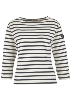 Shoptiques Product: White & Navy Breton Shirt