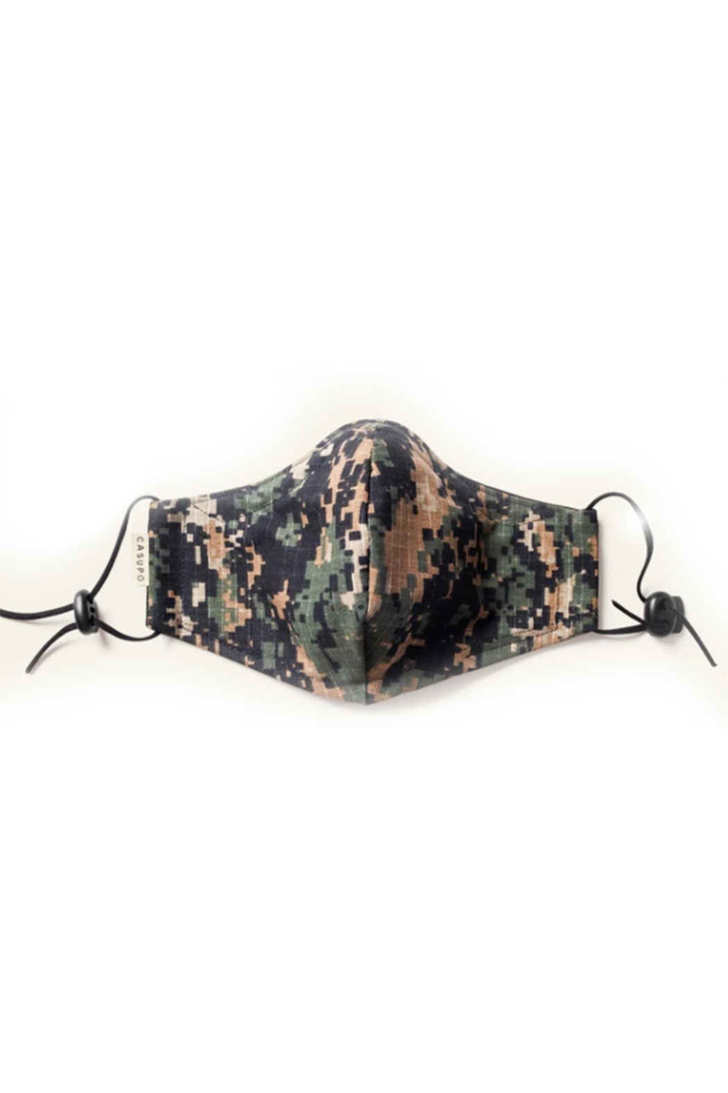 Casupo Army Camo Face Mask - Front Cropped Image