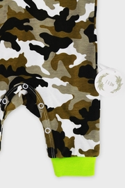 T & Tim Army Camouflage Jumpsuit with Hoodie - Back cropped