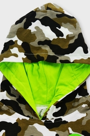 T & Tim Army Camouflage Jumpsuit with Hoodie - Side cropped
