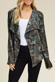 annabelle Army Draped-Front Jacket - Product Mini Image