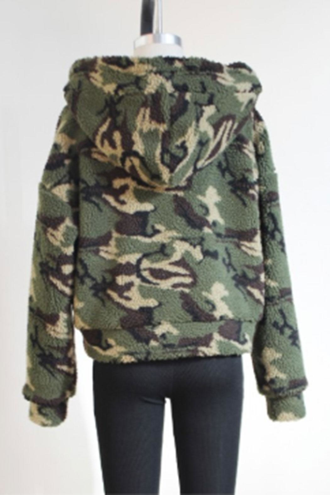 Audrey 3+1 Army Hooded Jacket - Front Full Image