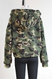 Audrey 3+1 Army Hooded Jacket - Front full body