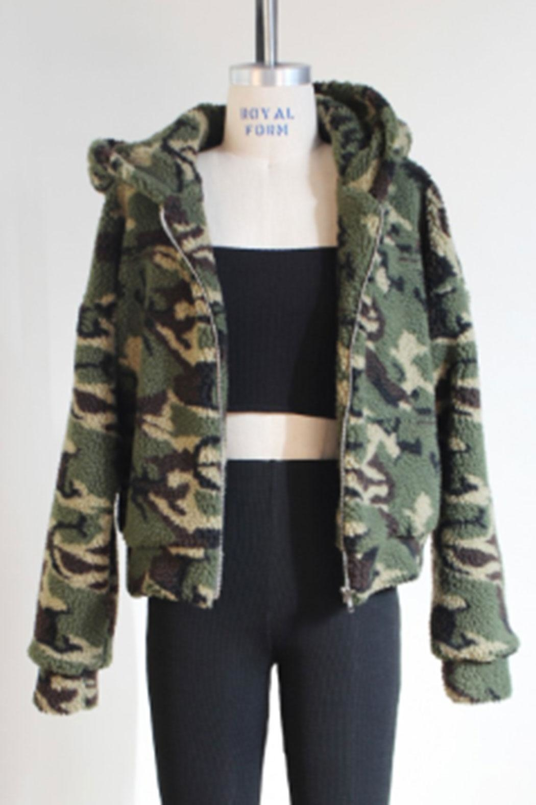 Audrey 3+1 Army Hooded Jacket - Main Image