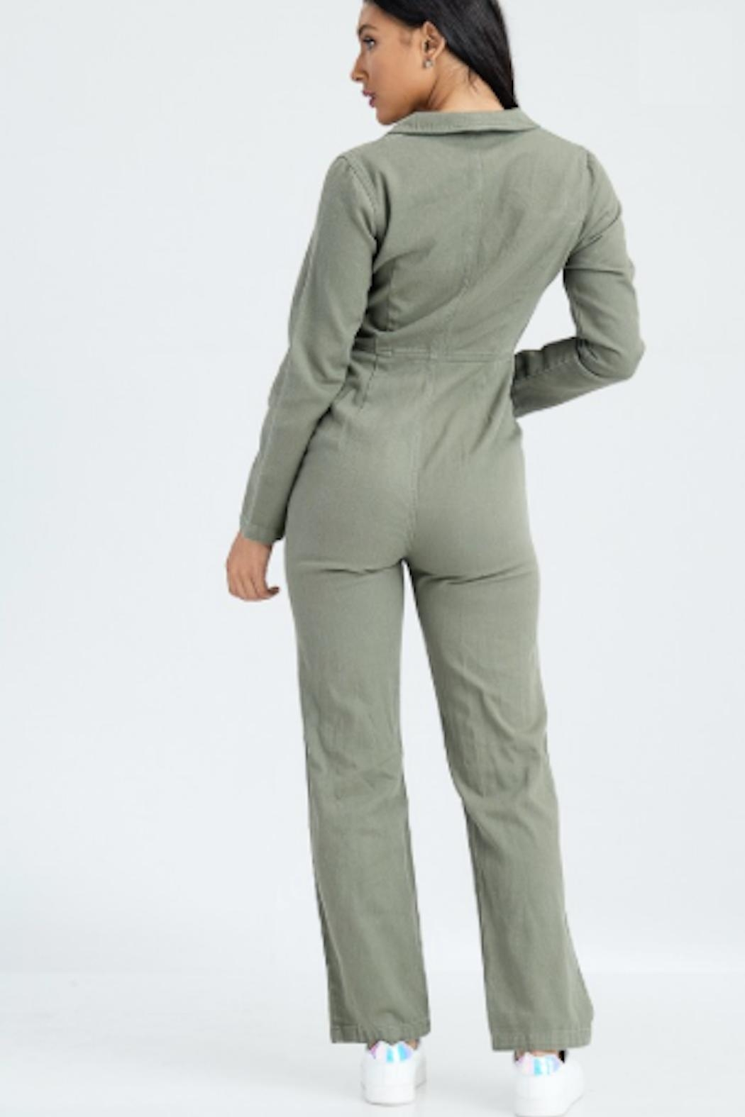 TIMELESS Army Jumpsuit - Side Cropped Image