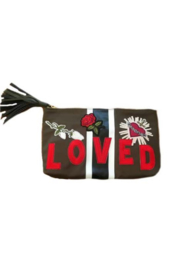 Ah!dorned ARMY NYLON STRIPE LOVED PATCH CLUTCH - Product Mini Image