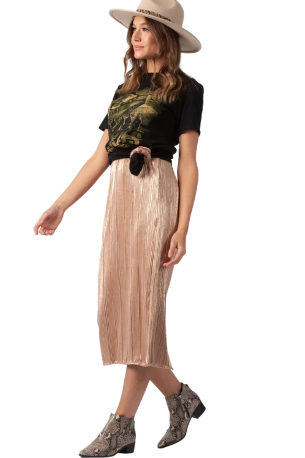 Lucca Arneis Maxi Skirt - Front Cropped Image