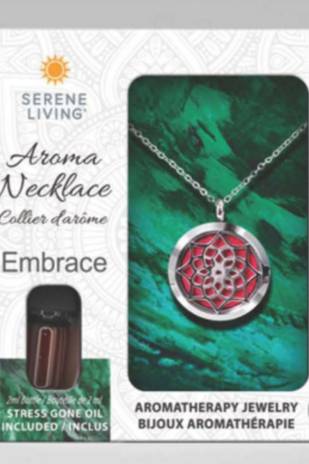 Serene Living Aroma Necklace Essence or Embrace - Front Cropped Image