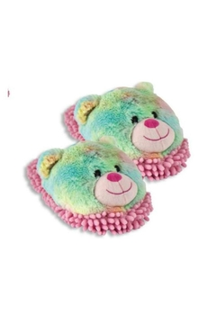 Aroma Home Rainbow-Bear Fuzzy-Friends Slippers - Alternate List Image