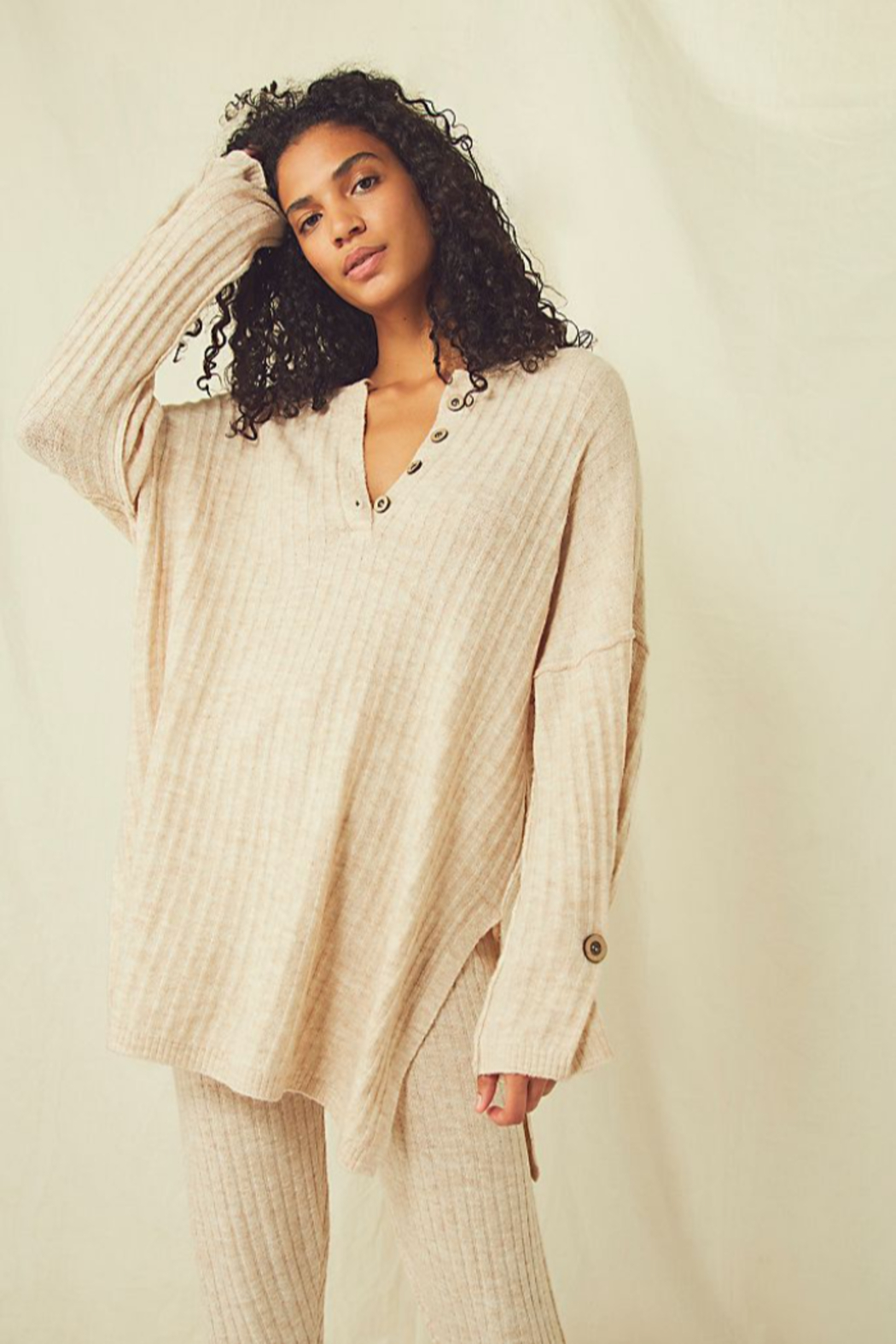 Free People  Around The Clock Pullover - Side Cropped Image