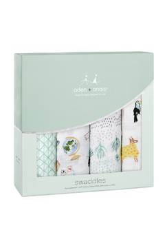 Shoptiques Product: Around The World 4 Pack Classic Swaddles