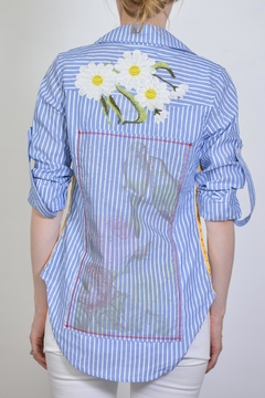 Shoptiques Product: Embroidered Stripe Shirt