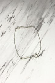By Philippe Arrow Bracelet Gold Filled - Front full body